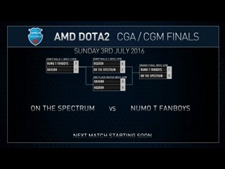 AMD Dota2 CGm Grand Final Numo T Fanboys VS On The Spectrum Game 2
