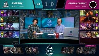 OCS 2019 Quarterfinals - LGG vs GRVA & EMP vs ORA