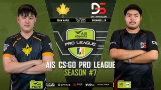 AIS CS:GO Pro League Season#7 R.1 Team Maple vs. DreamSeller MAP2  NUKE