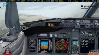 Paro Approach and landing | -203fpm my @$$ I greased it better than that elgargSTACHE