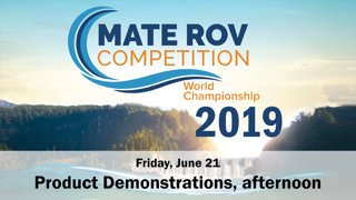 2019 Product Demonstrations, Friday PM