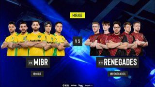 [PT-BR] MIBR vs. Renegades | ESL Pro League 2019 | Dia 14 - [Mapa 1 - MIRAGE]