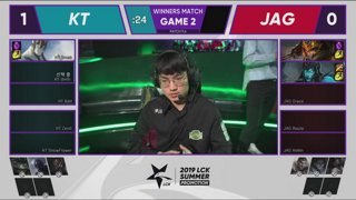 JAG vs. KT | Round 2 | LCK Summer Promotion | Jin Air GreenWings vs. kt Rolster (2019)