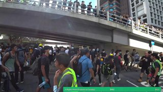 Hong Kong - Police Station Protest