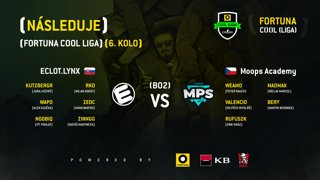 FORTUNA COOL liga: CS 6. kolo (ECLOT vs. Moops AT)