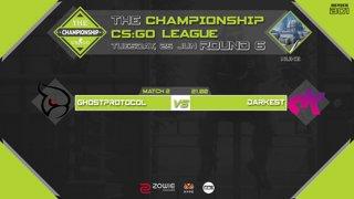 The Championship CS:GO League : Round 6| Ghostprotocol vs Darkest