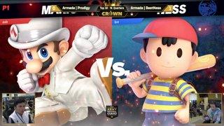 Crown 2019 SSBU - Armada | Prodigy (Mario) Vs. Armada | BestNess (Ness) Smash Ultimate Tournament Winners Quarters