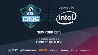 LIVE: FURIA vs eUnited - ESL One New York 2019 NA Closed Qualifier.