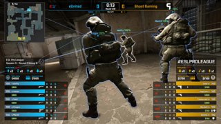 CS:GO - eUnited vs. Ghost [Dust2] Map 2 - Group B - ESL Pro League Season 9 Americas