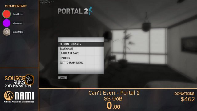 SourceRuns Marathon 2018 - Portal 2 (SS OoB) by Can't Even