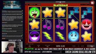 SLOTOMOJI - BIG WIN! - 3€ BET