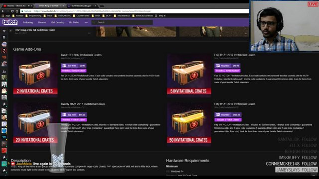 JuanMata - 2017 H1Z1 Invitational Crate opening + Multiple Twitch Crates! - Twitch