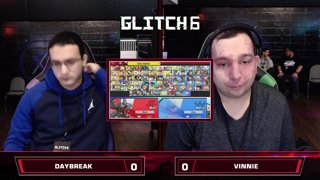 Glitch 6 SSBU - Daybreak (Wolf) VS Vinnie (Daisy) Smash Ultimate Loser's Top 48