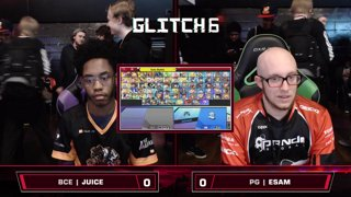 Glitch 6 SSBU - BCE | Juice (Zero Suit Samus) VS PG | ESAM (Pikachu) Smash Ultimate Loser's Top 48