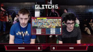 Glitch 6 SSBU - NSM | NickC (Captain Falcon) VS SDX (Mewtwo) Smash Ultimate Loser's Top 16