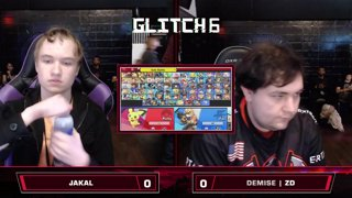 Glitch 6 SSBU - Jackal (Pichu) VS Demise | ZD (Fox) Smash Ultimate Loser's Top 16