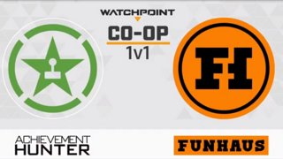 Achievement Hunter vs. Funhaus | CO-OP 1v1 Stage 4 Week 5 Day 2