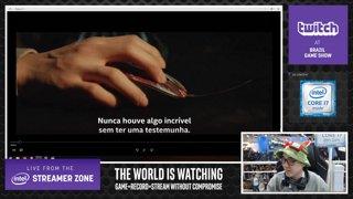 Destaque: Ao vivo do stand da Twitch na BGS diretamente da @Intel Streamer Zone