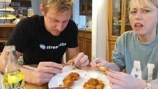 HOT Wing Challenge! Alec VS GF