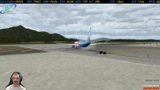 PAJN  gorgous take off - no tail strike tonight 737-900