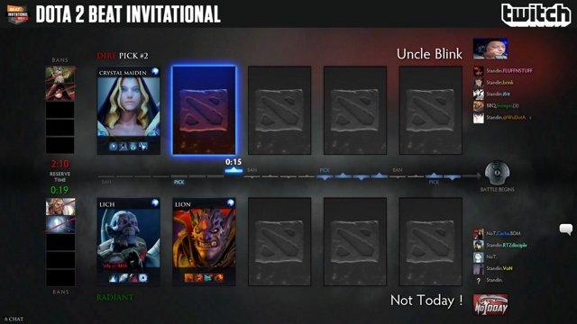 BEATesports - Uncle Blink vs Not Today - Dota 2 BEAT Invitational Season 8 - Twitch