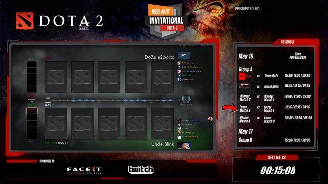 BEATesports - Uncle Blink vs Doze - Dota 2 BEAT Invitational Season 8 - Twitch