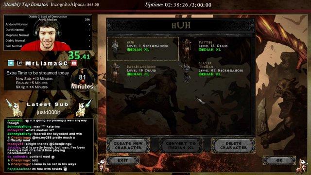 Diablo 2 - Median XL Speedrun!! - 1st try (Necro)