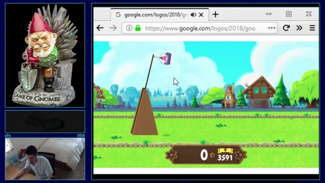 Celebrating Garden Gnomes Google Doodle Highscore (Red 2) at