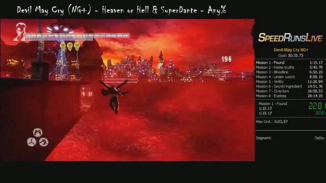 devil may cry speedrun