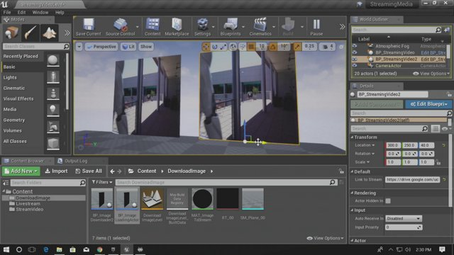 Unreal Engine - Streaming Textures and Videos in UE4