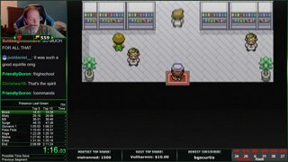 Pokemon Firered/Leafgreen speedrun in 2:07:09!