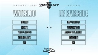 Playoffs Ro16: Waterloo vs UC Riverside