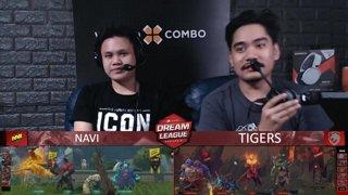 [FIL] NAVI vs TIGERS (BO5) | Game 2 I Grand Finals | Dream League Season 10 Minor Playoffs