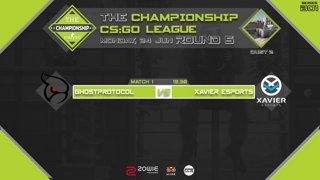 The Championship CS:GO League : Round 5 | Xavier Esport vs GHOSTprotocol