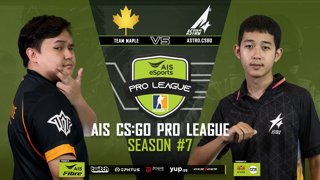 AIS CS:GO Pro League Season#7 R.6 | Team Maple vs. Astro.CSGO MAP1 MIREAGE