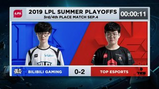 BLG vs. TOP | 3rd Place | LPL Summer | Bilibili Gaming vs. Top Esports (2019)