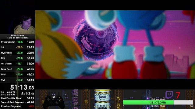 Highlight: Sonic Mania Runs  PBing before the (trash) update