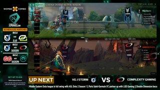 Complexity Gaming vs VG.J Storm Game 1 (BO2) l China Dota2 Supermajor - NA Qualifier