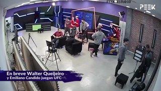Queijeiro y Candido juegan UFC con Fran!
