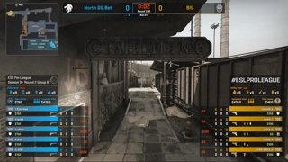 CS:GO - North vs. BIG [Train] Map 2 - Group B - ESL Pro League Season 9 Europe