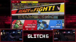 Glitch 6 SSBU -  Archy (Young Link, Sheik) VS  MJ (R.O.B.) Smash Ultimate Pools