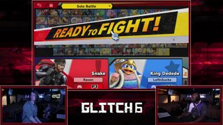 Glitch 6 SSBU -  Raven (Snake) VS  K.I.D. Goggles (Dedede) Smash Ultimate Pools