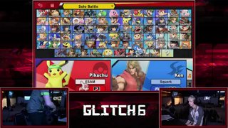 Glitch 6 SSBU -  PG | ESAM (Pikachu) VS  PG | Squerk (Yoshi) Smash Ultimate Pools