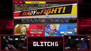 Glitch 6 SSBU -  Chrome Kingfisher (Donkey Kong) VS  Mekos (Lucas) Smash Ultimate Pools