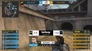 CS:GO - NaVi vs. Team Liquid [Overpass] Map 2 - Group A - ESL One Cologne 2019