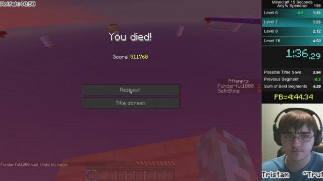 15 seconds minecraft