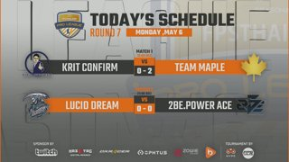 CS:GO Pro League Season#6 : Krit Confirm vs Maple | Lucid Dream vs 2Be.Power Ace