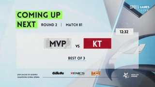 LCK Spring: MVP vs. KT - BBQ vs. AFS