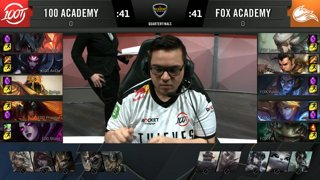 100A vs. FOXA | Quarterfinals Day 1 | LCS Academy Summer | 100 Thieves vs. Echo Fox (2019)