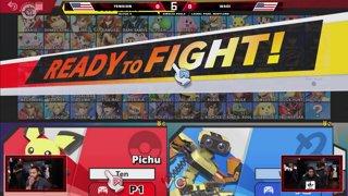 Glitch 6 SSBU - Tension (Pichu, Fox) VS WaDi (R.O.B.) Smash Ultimate Pools